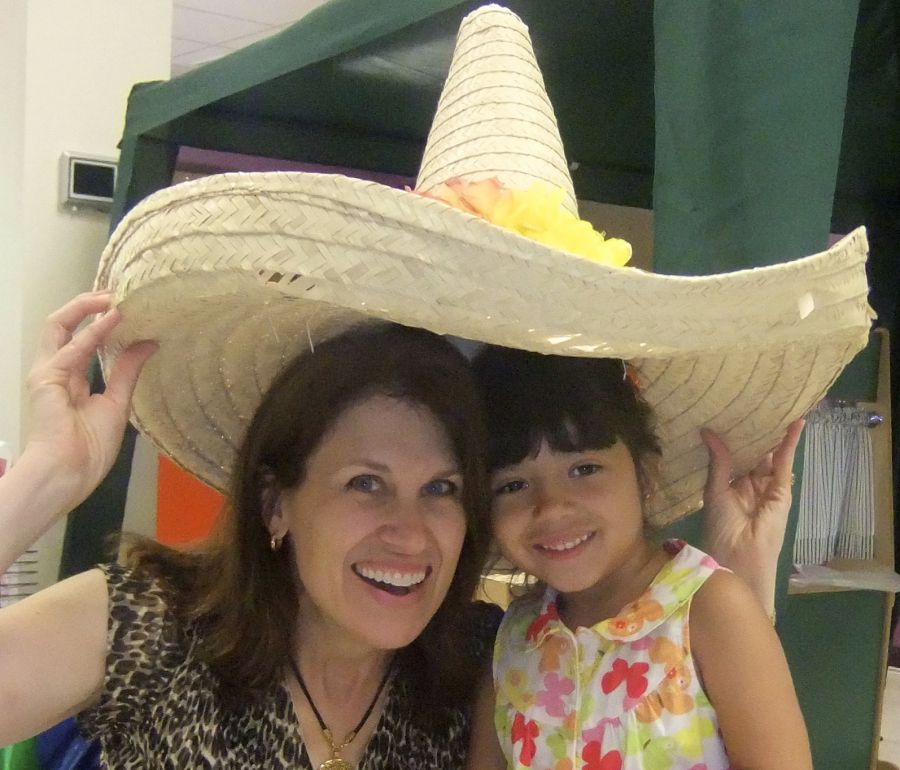 Maestra Marti with one of her young students.