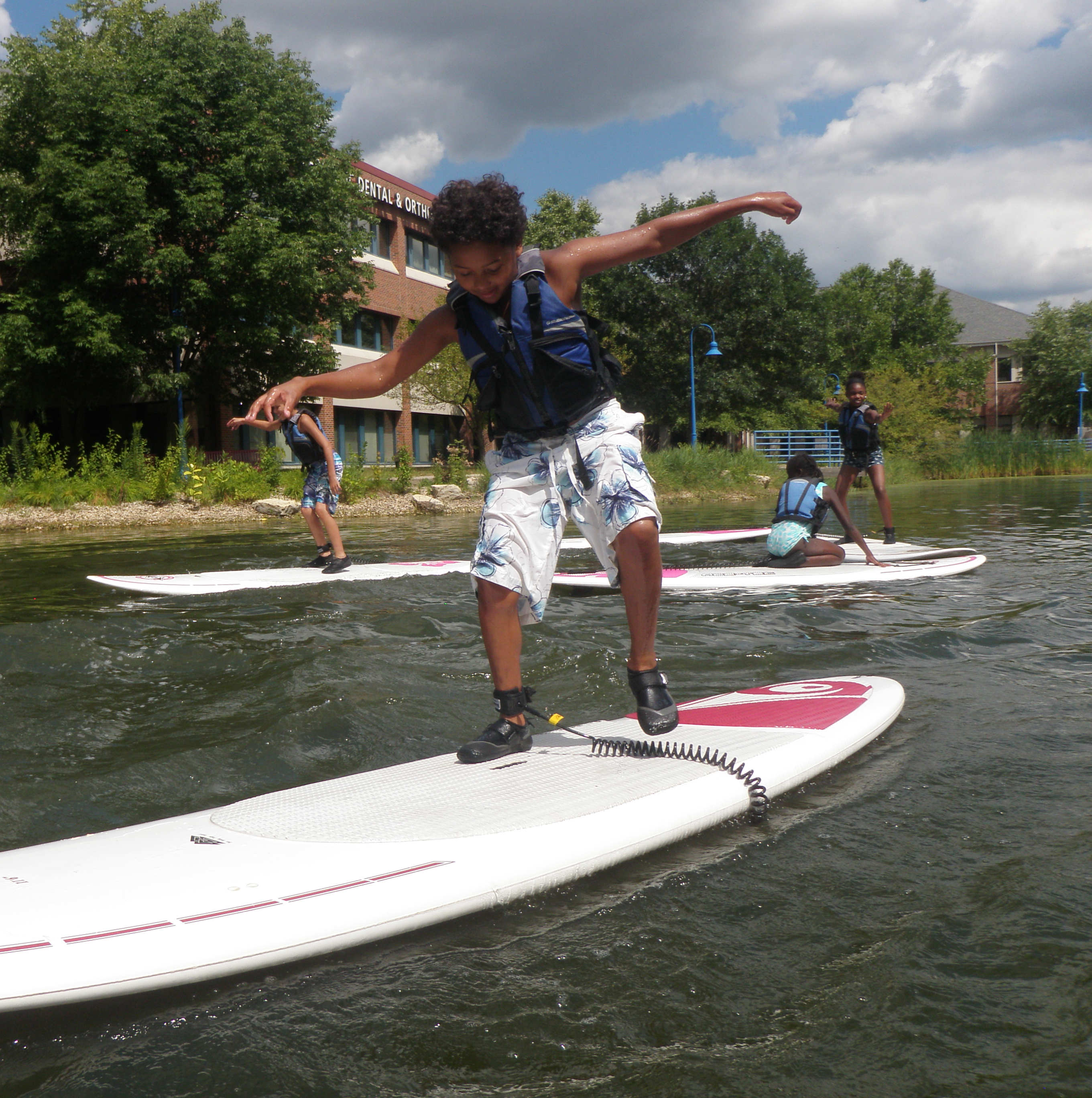 Teen Stand Up Paddling
