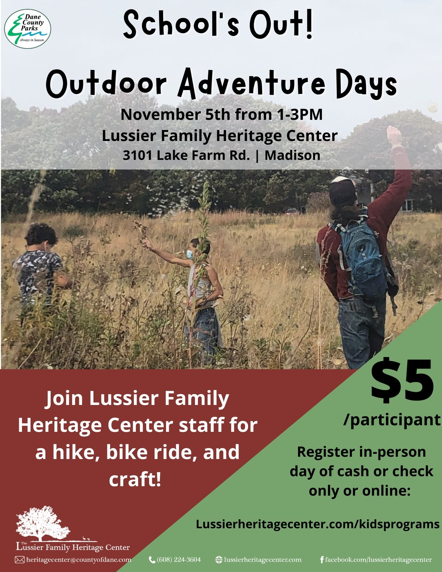 Schools Out! Outdoor Adventure Days