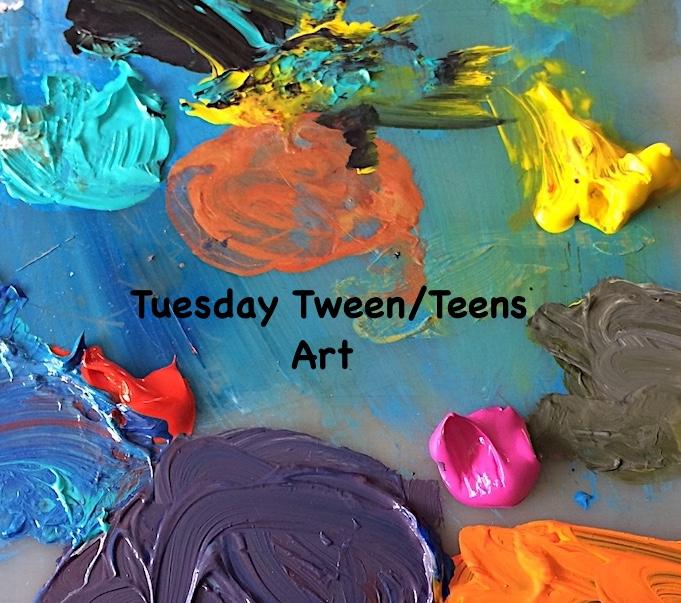 Tuesday Tween/Teen Art Classes
