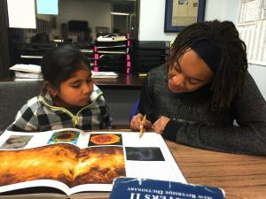 SSFP Teen Editor Works with Younger Student