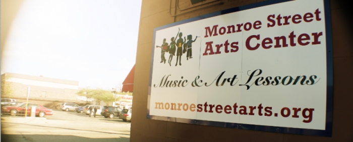 The Monroe Street Arts Center is on the corner of Monroe St and Commonwealth ave